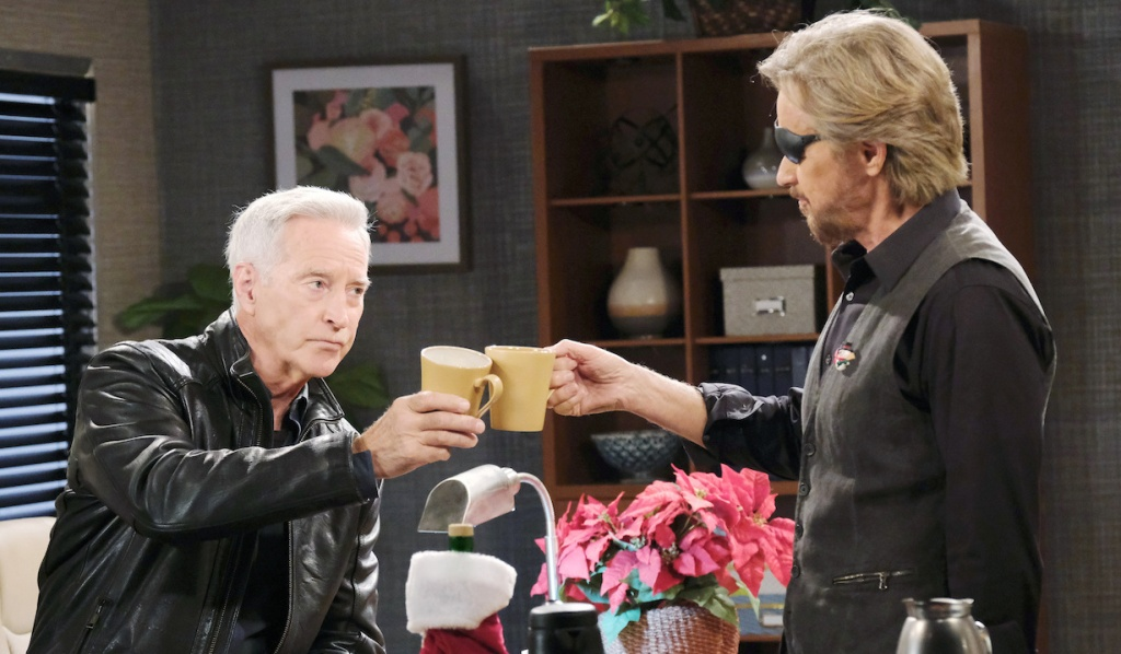 John and Steve toast on Days of Our Lives