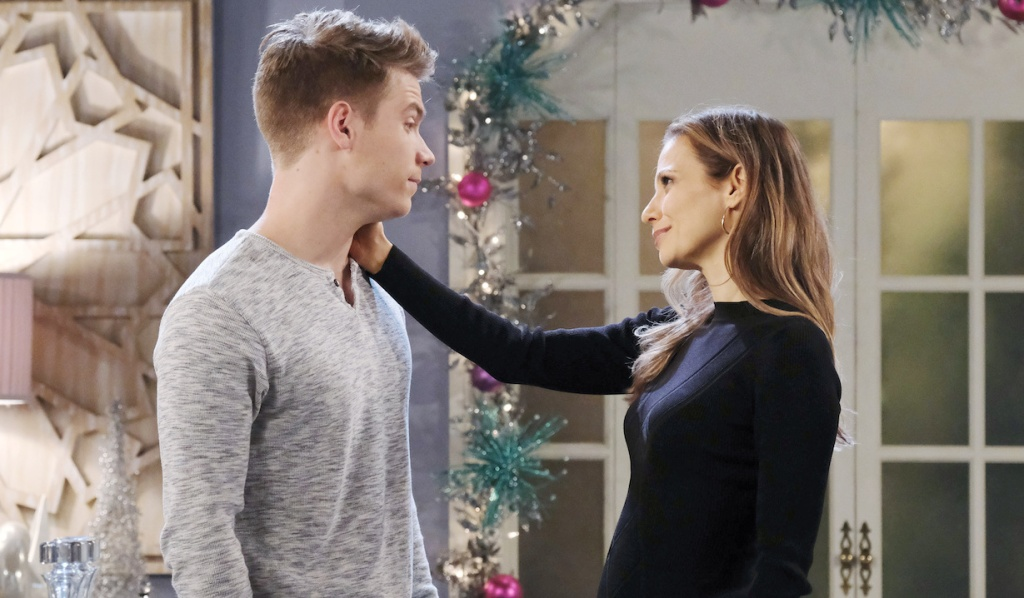 Ava comforts Tripp at home on Days of Our Lives