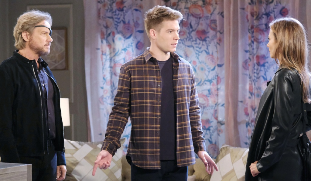 Tripp gets in between Steve and Ava on Days of Our Lives