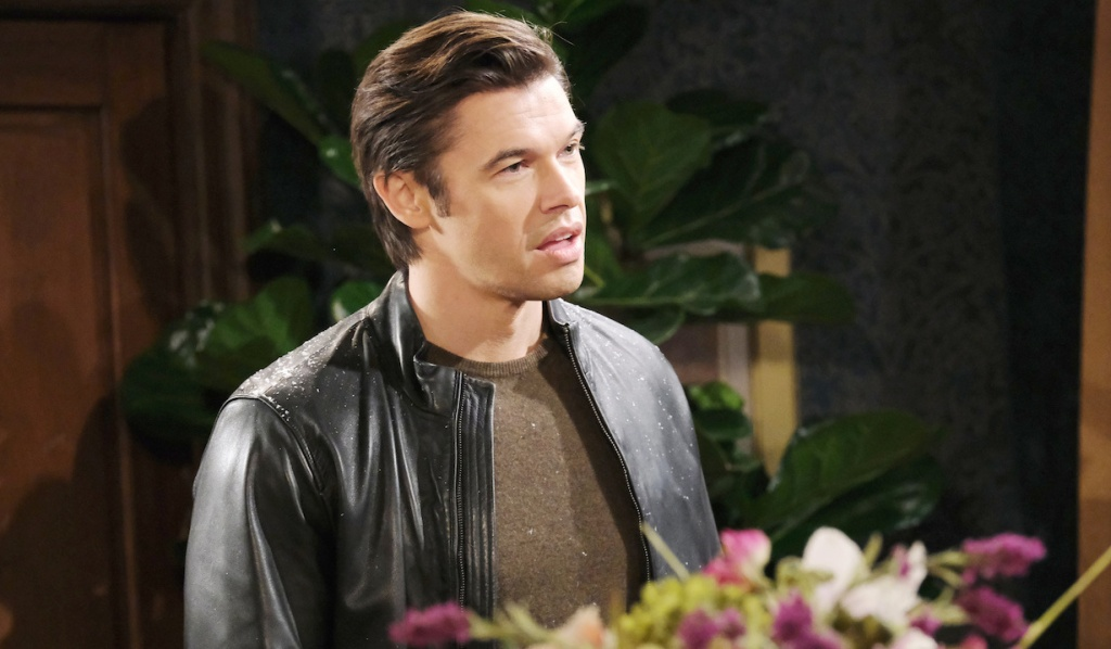 Xander looking displeased on Days of Our Lives