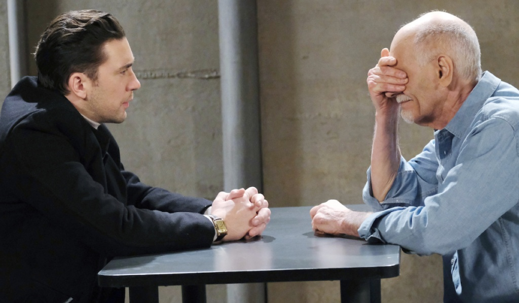 Chad visits Dr. Rolf in prison on Days of Our Lives