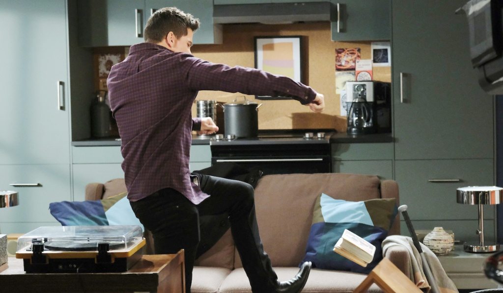 Charlie destroys his apartment on Days of Our Lives