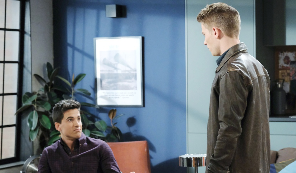 Charlie looks smugly at Tripp on Days of Our Lives