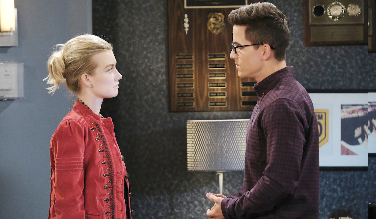 Claire confronts Charlie at the station on Days of Our Lives
