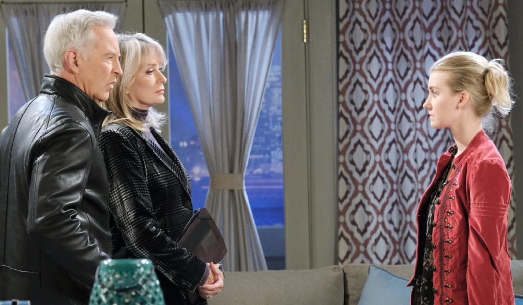 Claire faces her grandparents on Days of Our Lives