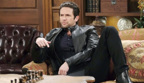 Jake kicks back on the DiMera couch on Days of Our Lives