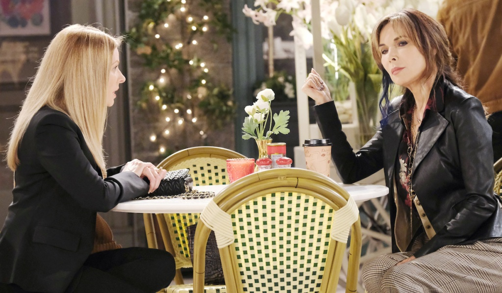 Jennifer and Kate talk at Horton Square on Days of Our Lives