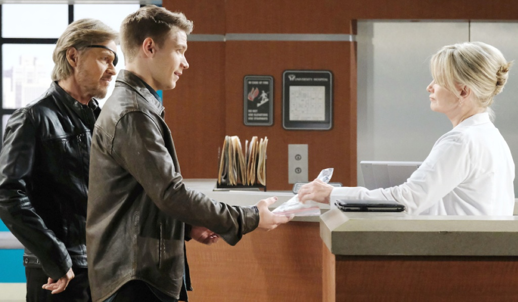 Steve, Tripp and Kayla at the hospital on Days of Our Lives