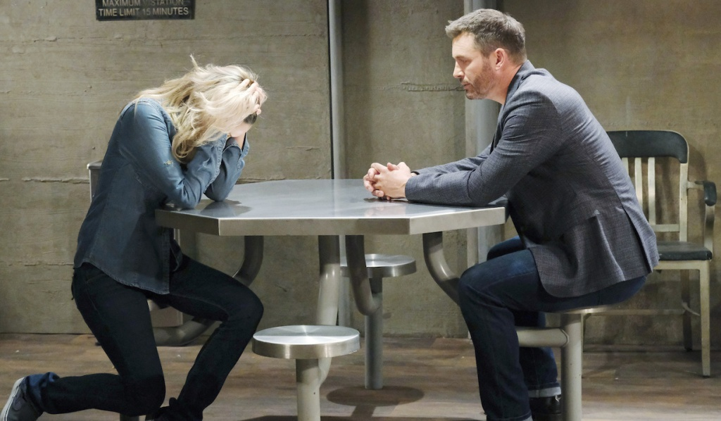 Kristen distressed meeting with Brady in prison on Days of Our Lives
