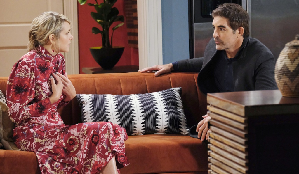 Nicole explains herself to Rafe at home on Days of Our Lives