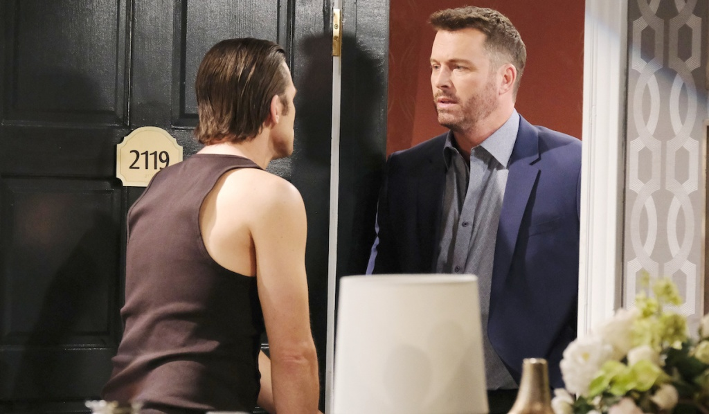 Philip opens the door to Brady on Days of Our Lives