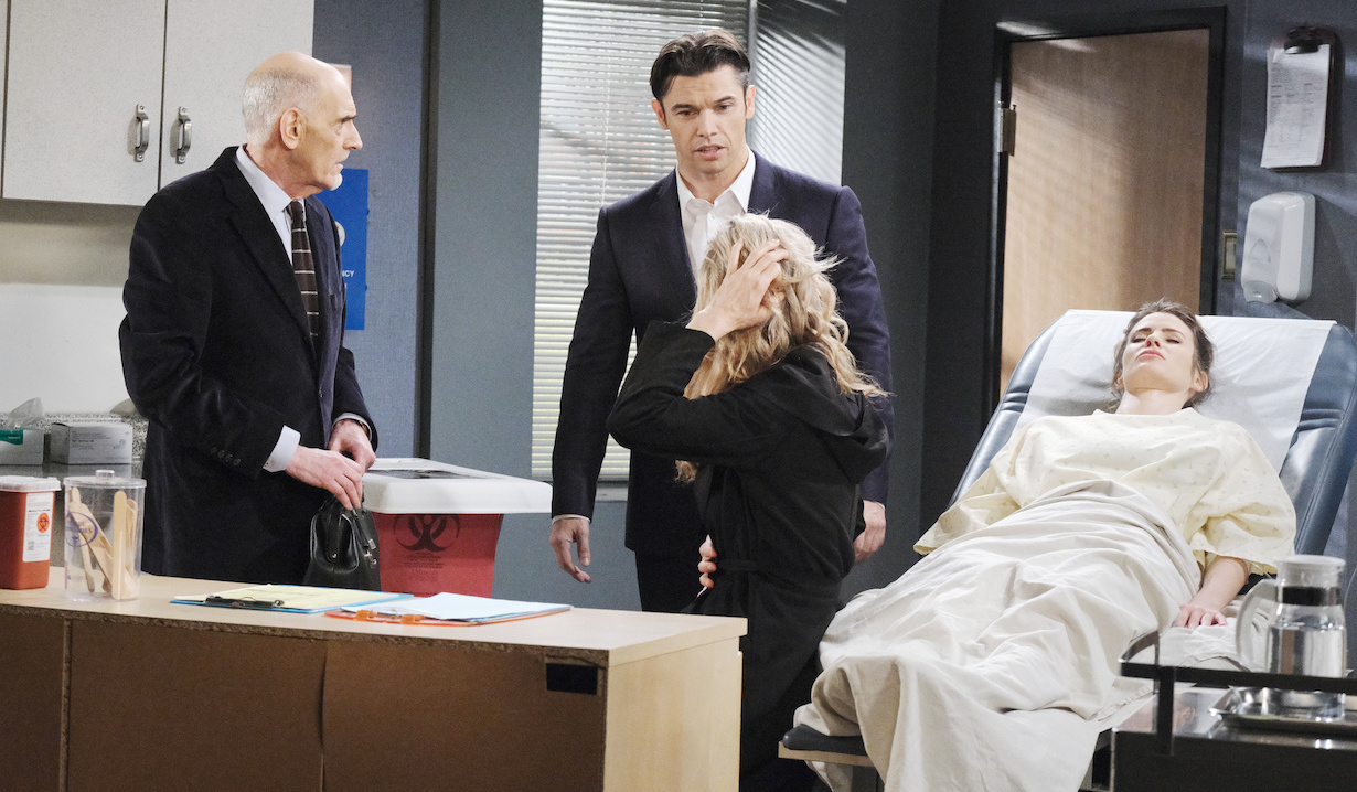 Rolf and Kristen pressure Xander to help with Sarah's embryo transfer on Days of Our Lives
