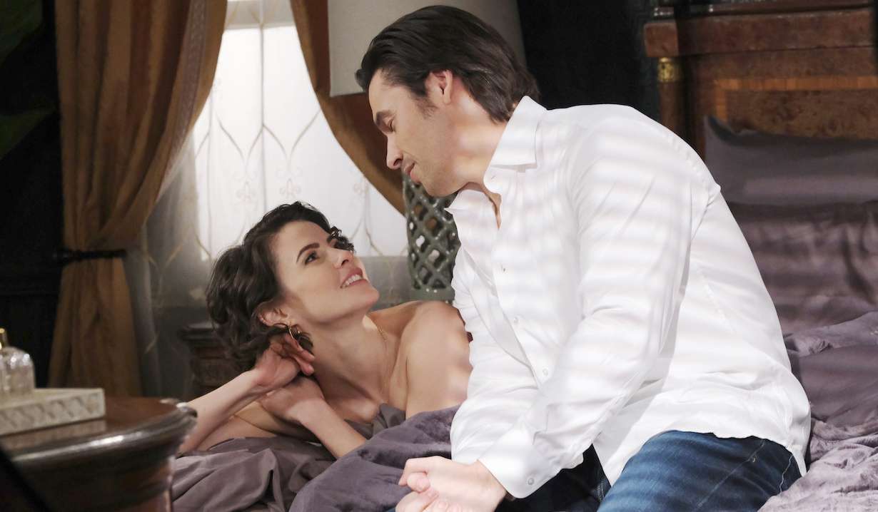 Sarah and Xander get flirtatious in bed on Days of Our Lives