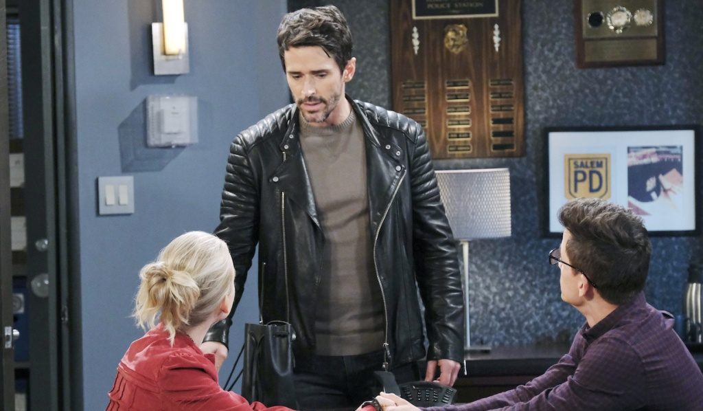 Shawn finds Claire with Charlie at the SPD on Days of Our Lives