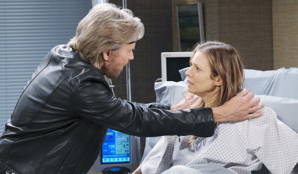 Steve tries to calm Ava down on Days of Our Lives