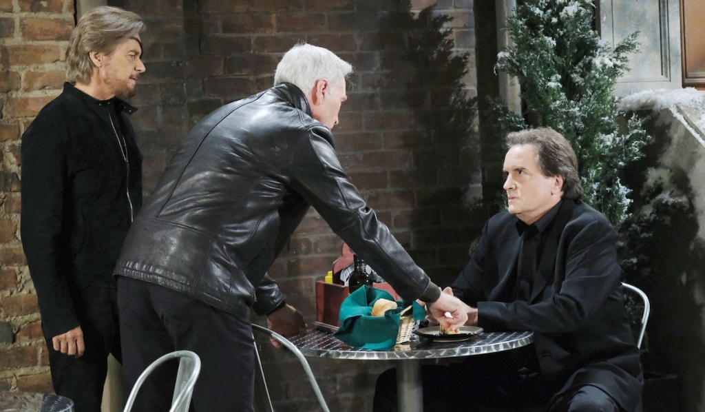 Steve and John confront Angelo on Days of Our Lives