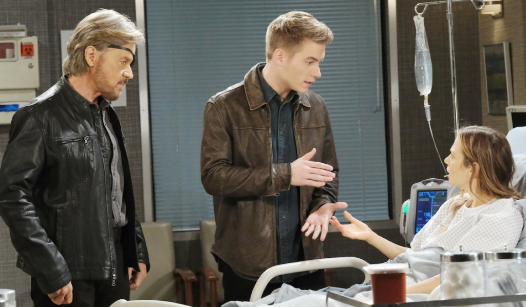 Steve watches as Tripp and Ava debate on Days of Our Lives