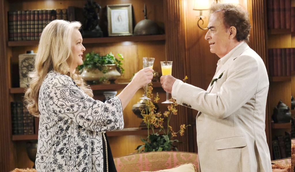 Tony and Anna toast to the New Year on Days of Our Lives