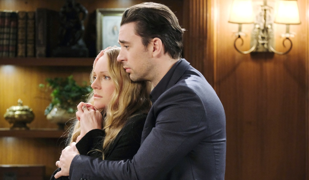 Chad consoles Abigail on Days of Our Lives