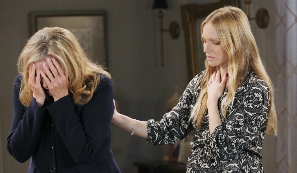 Abigail consoles Laura on Days of Our Lives
