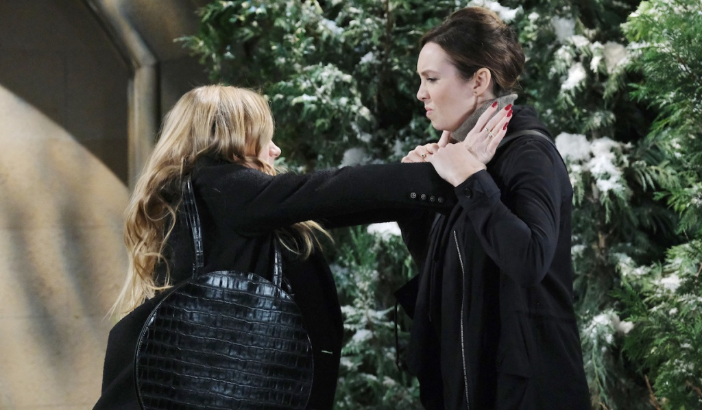 Abigail lunges at Gwen on Days of Our Lives