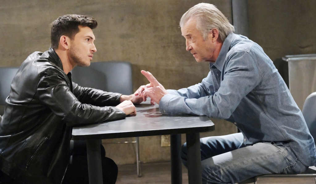 Clyde gives Ben a tip on Days of Our Lives