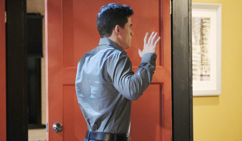 Charlie's hands are up in surrender on Days of Our Lives
