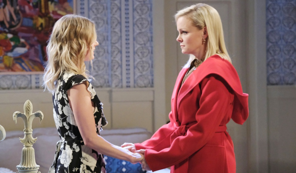 Claire explains to Belle on Days of Our Lives