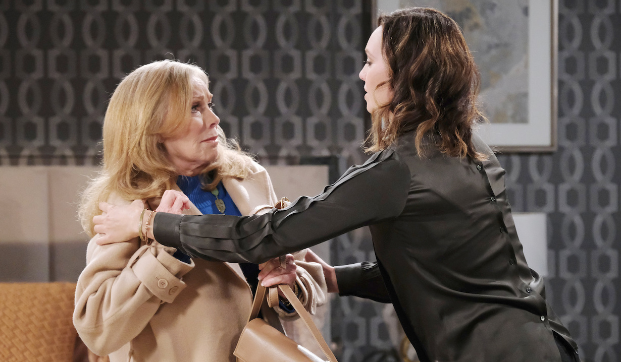 Gwen grabs Laura on Days of Our Lives
