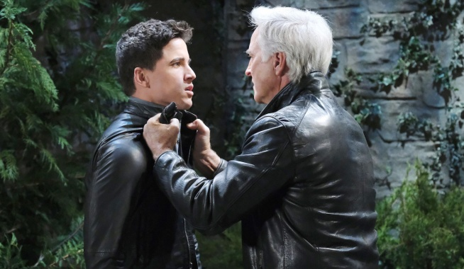 John grabs Charlie on Days of Our Lives