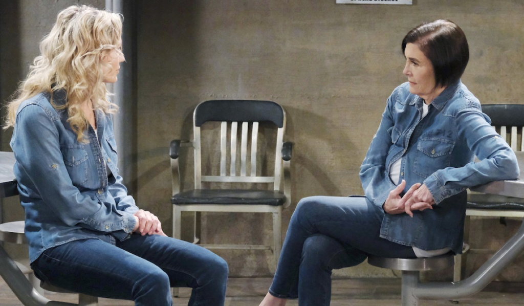 Kristen and Vivian in prison together on Days of Our Lives