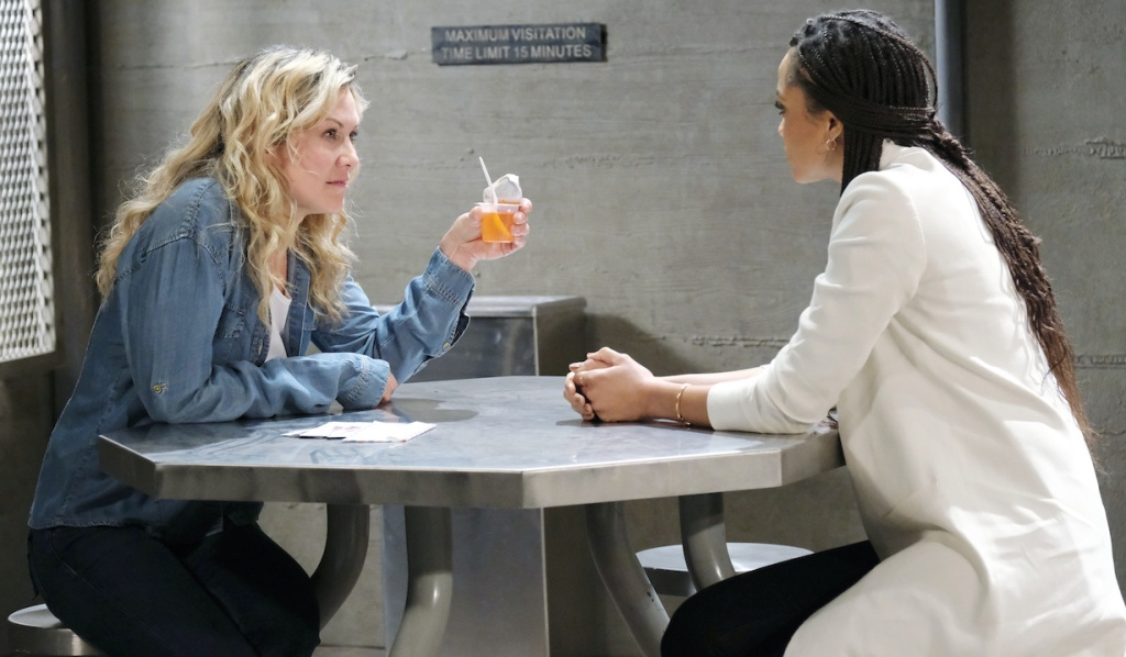 Lani visits Susan as Kristen in prison on Days of Our Lives