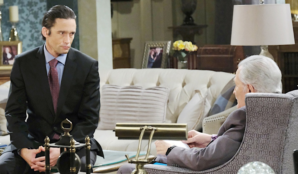 Philip offers Victor his resignation on Days of Our Lives