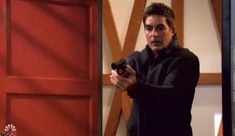 Rafe draws gun at Charlie's on Days of Our Lives