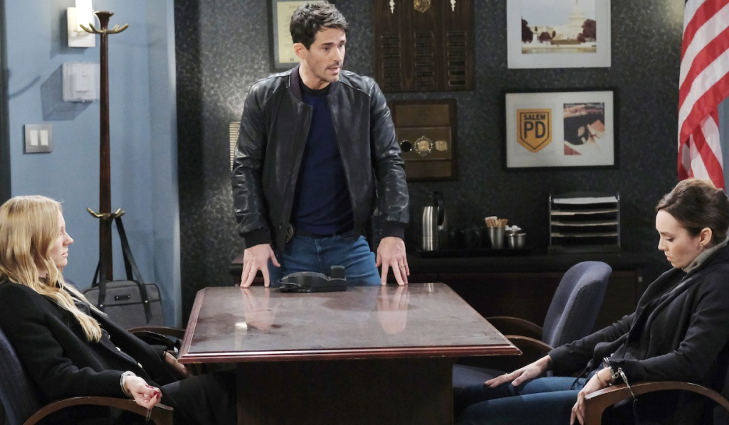 Shawn arrests Abigail and Gwen on Days of Our Lives