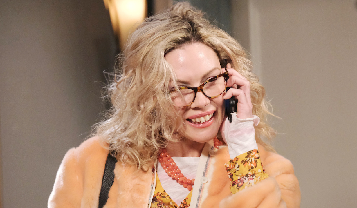 Susan on the phone on Days of Our Lives