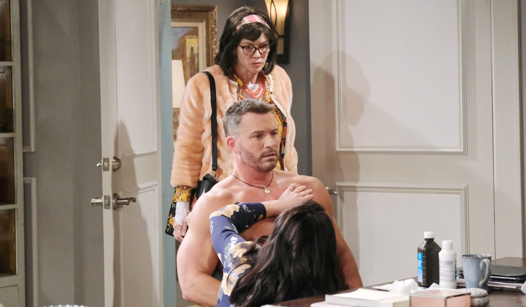 Susan finds Chloe getting handsy with Brady on Days of Our Lives
