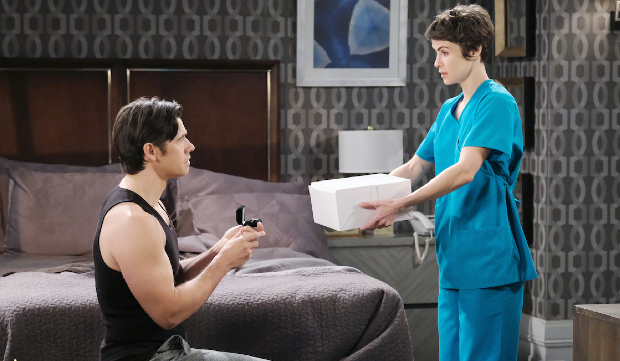 Xander proposes, Sarah offers cake on Days of Our Lives