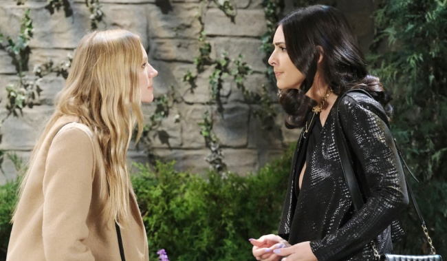Abigail and Gabi argue in the park on Days of Our Lives