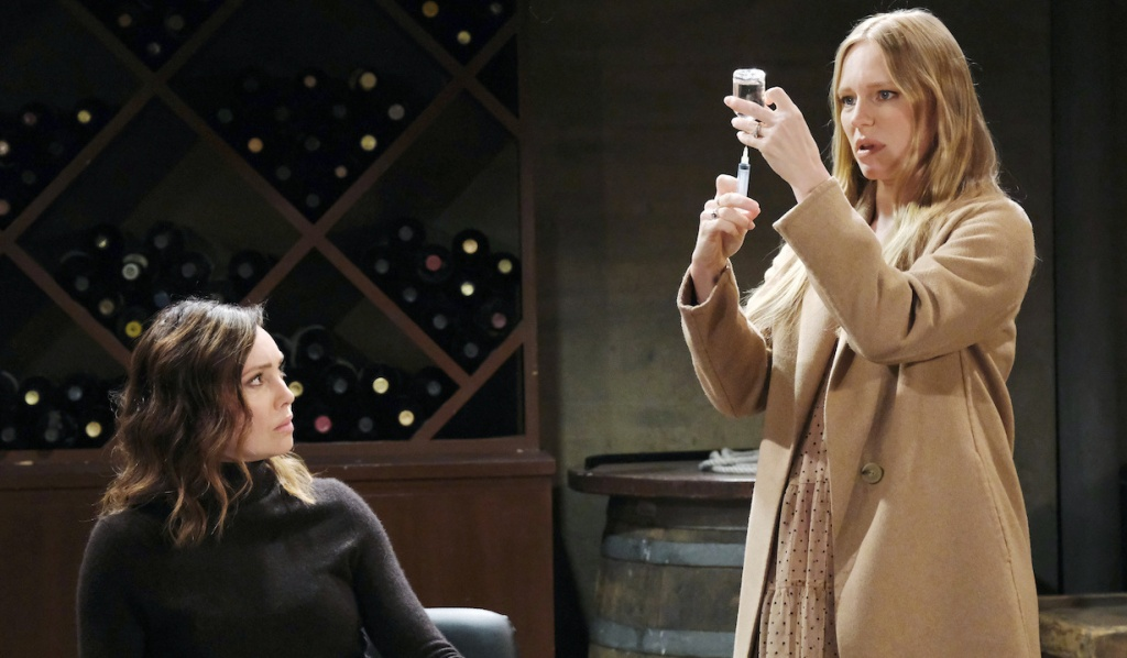 Abigail prepares a syringe for Gwen on Days of Our Lives
