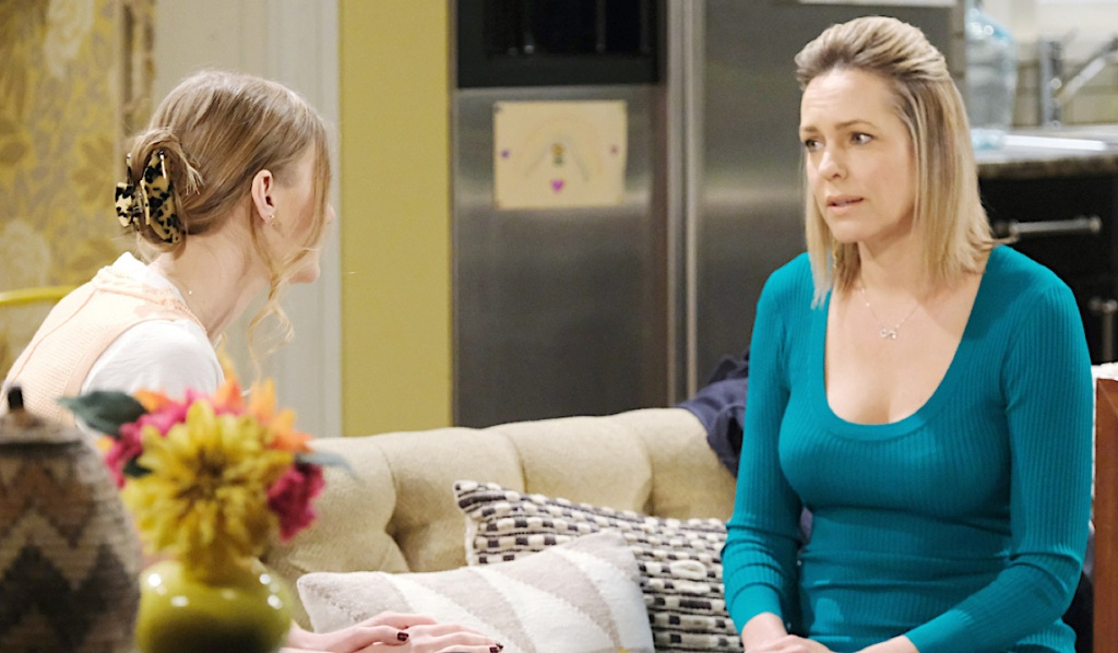 Allie and Nicole have a tense conversation on Days of Our Lives