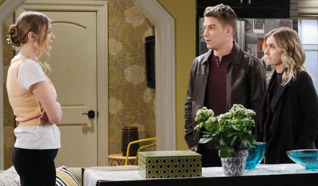 Tripp and Claire visit with Allie on Days of Our Lives