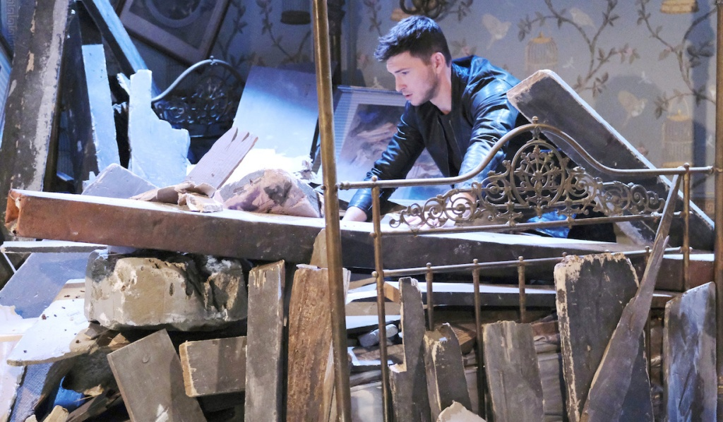 Ben digs through rubble on Days of Our Lives