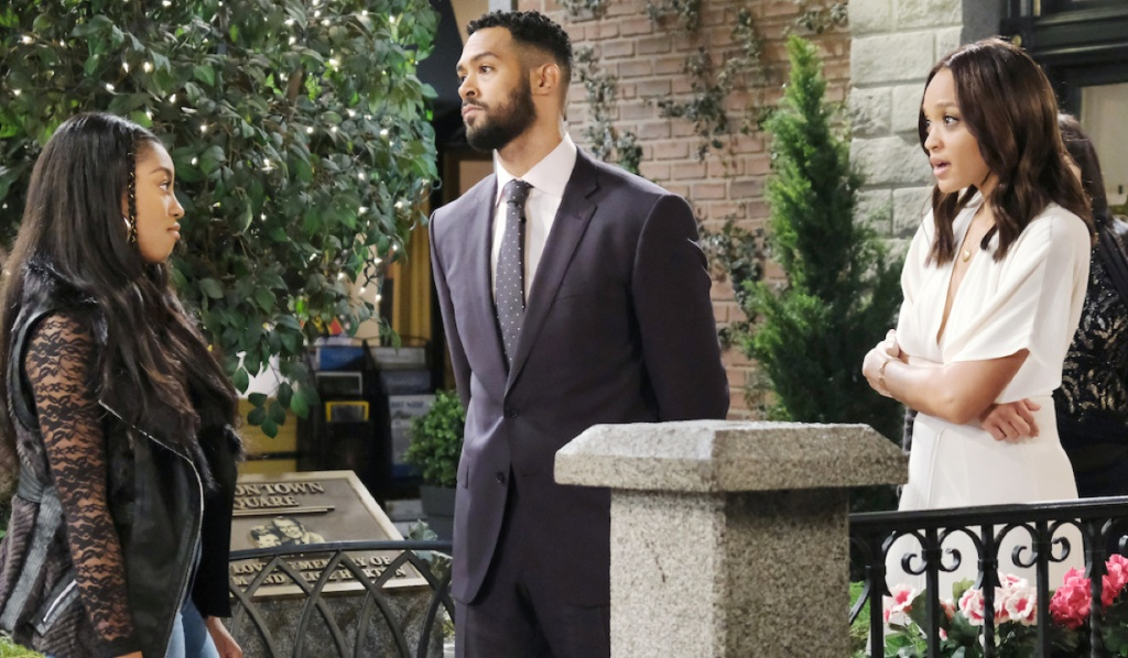Chanel faces Eli and Lani on Days of Our Lives