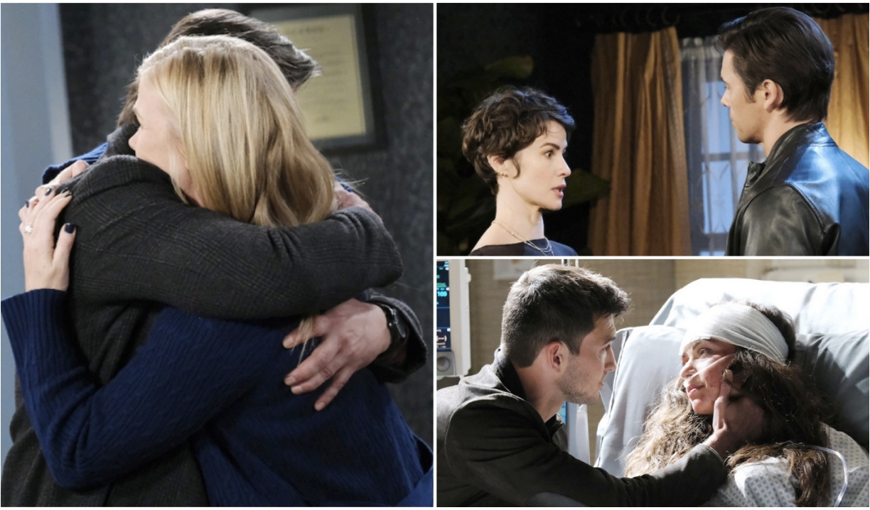 Sami and Lucas, Xander and Sarah, Ben and Ciara on Days of Our Lives