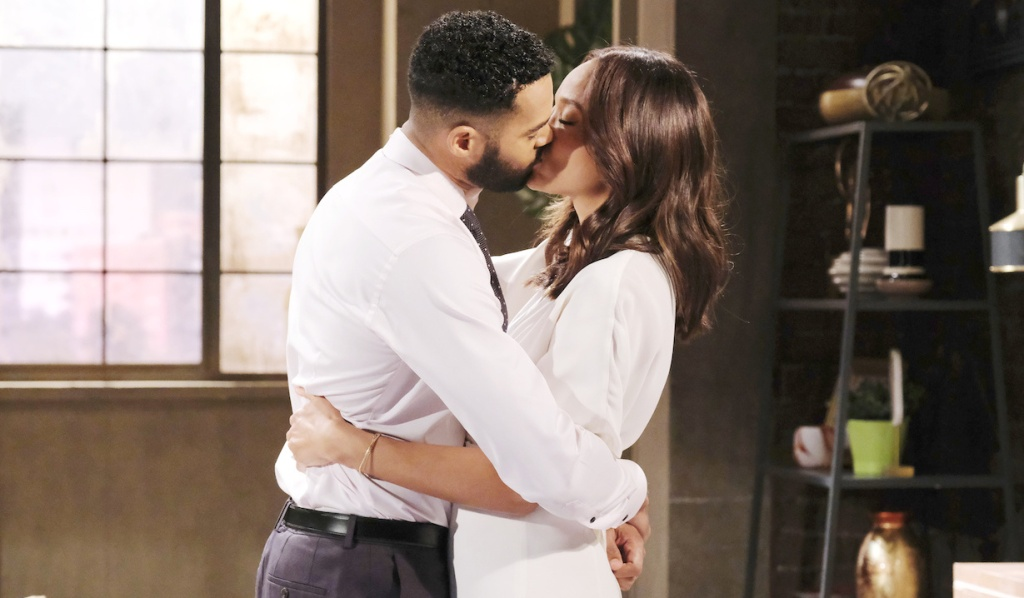 Eli and Lani kiss on Days of Our Lives