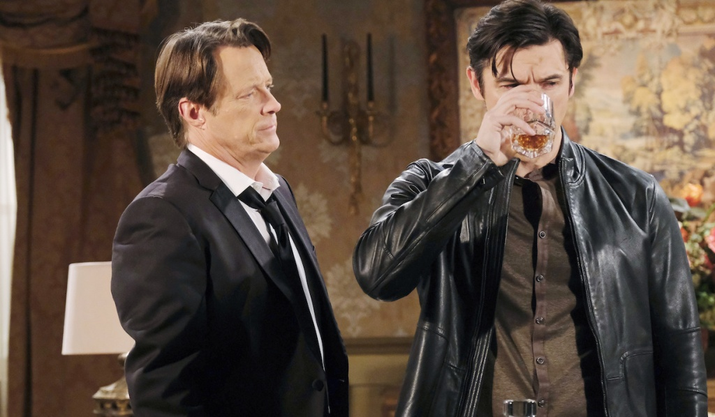 Jack watches Xander drink on Days of Our Lives