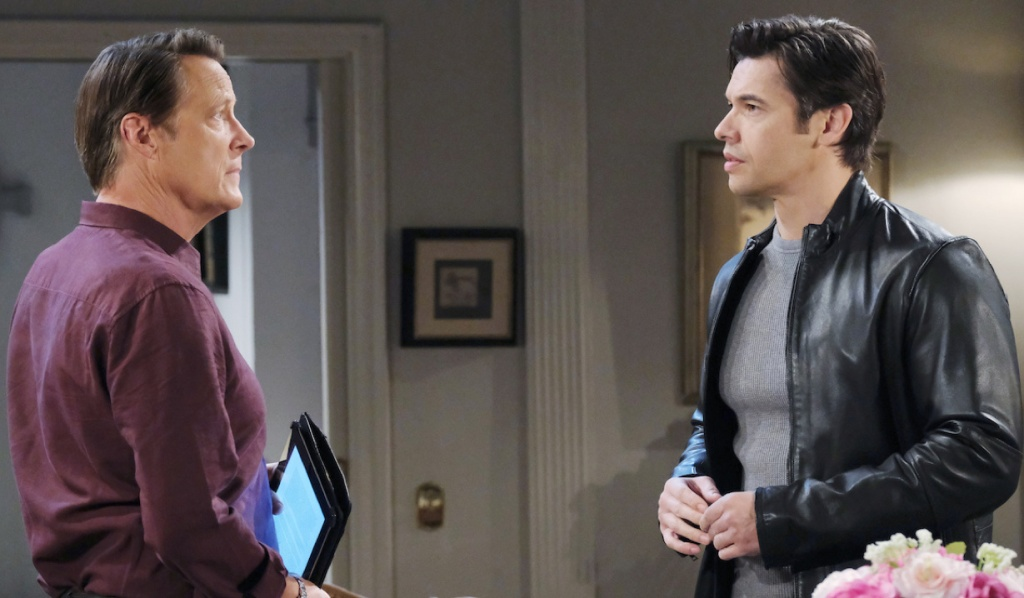 Jack and Xander talk at Horton House on Days of Our Lives