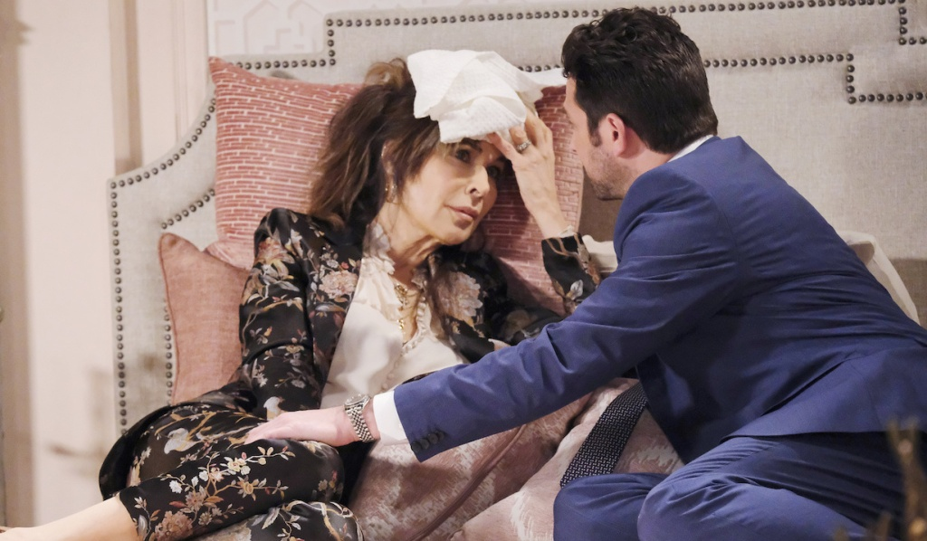 Jake tends to an ailing Kate on Days of Our Lives