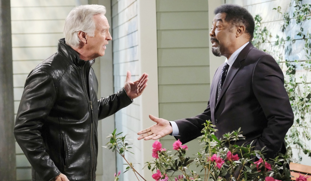 John and Abe have a heated conversation on Days of Our Lives